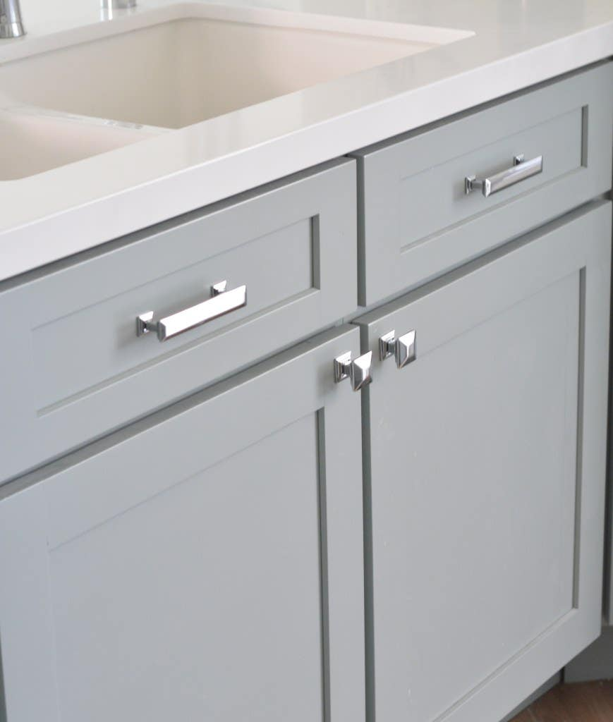 CliqStudios Dayton cabinets in blue-gray painted Harbor